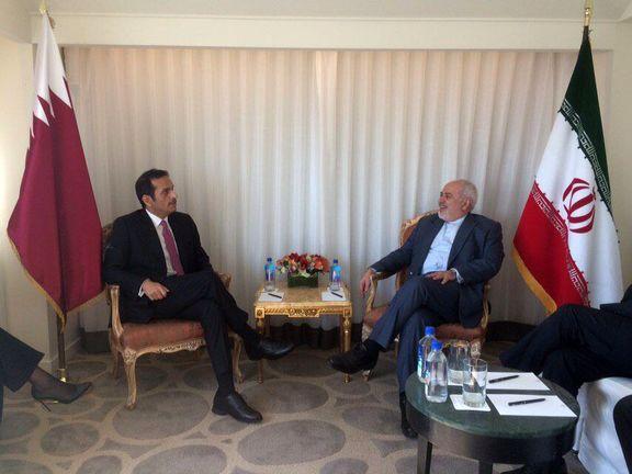 وزیر امور خارجه قطر با همتای ایرانی خود دیدار کرد