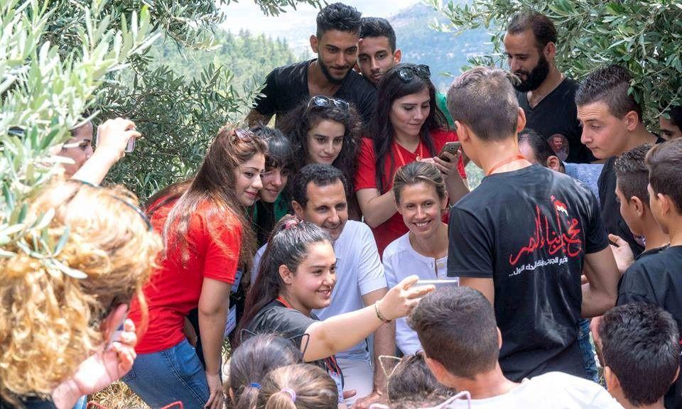 اسد و همسرش در میان مجروحان