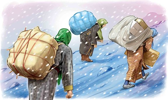 «افزایش قابل توجه» کولبری توسط زنان در مناطق مرزی ایران