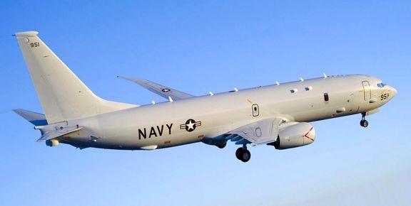 هواپیمای جاسوسی P-8 بر فراز تنگه هرمز پرواز میکرد