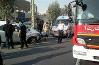 تصادف شدید مزدا با امویام در تهرانسر +عکس