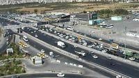 ترافیک سنگین در برخی مقاطع آزادراه قزوین - کرج