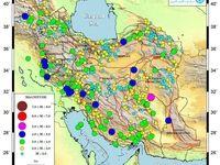 ایران خردادماه ۱۱۳۰بار لرزیده است +نقشه