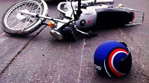 برخورد سواری تیبا با موتورسیکلت یک کشته برجا گذاشت