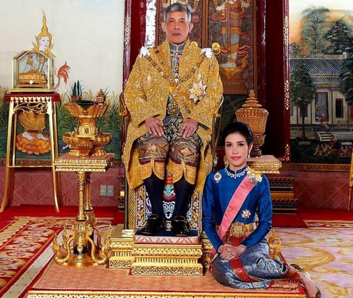جنجال جدید پادشاه پرحاشیه تایلند +تصاویر