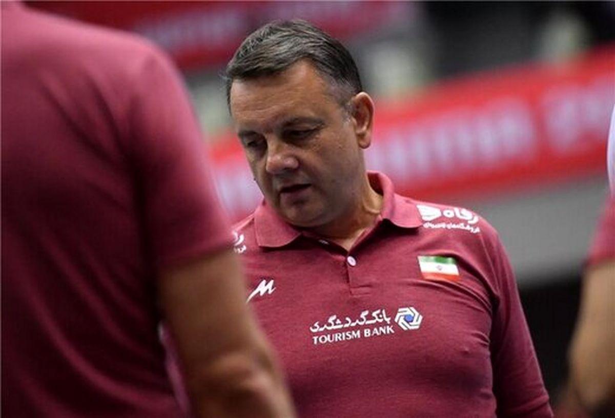 واکنش کولاکوویچ به نتیجه تیم ملی والیبال + عکس