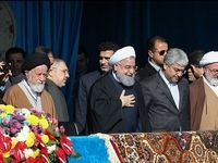 روحانی در اجتماع بزرگ مردم شاهرود +عکس