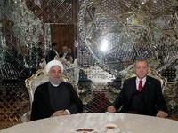 دیدار اردوغان و روحانی در تاجیکستان +عکس