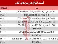 قیمت دوربینهای عکاسی کانن در بازار؟ +جدول