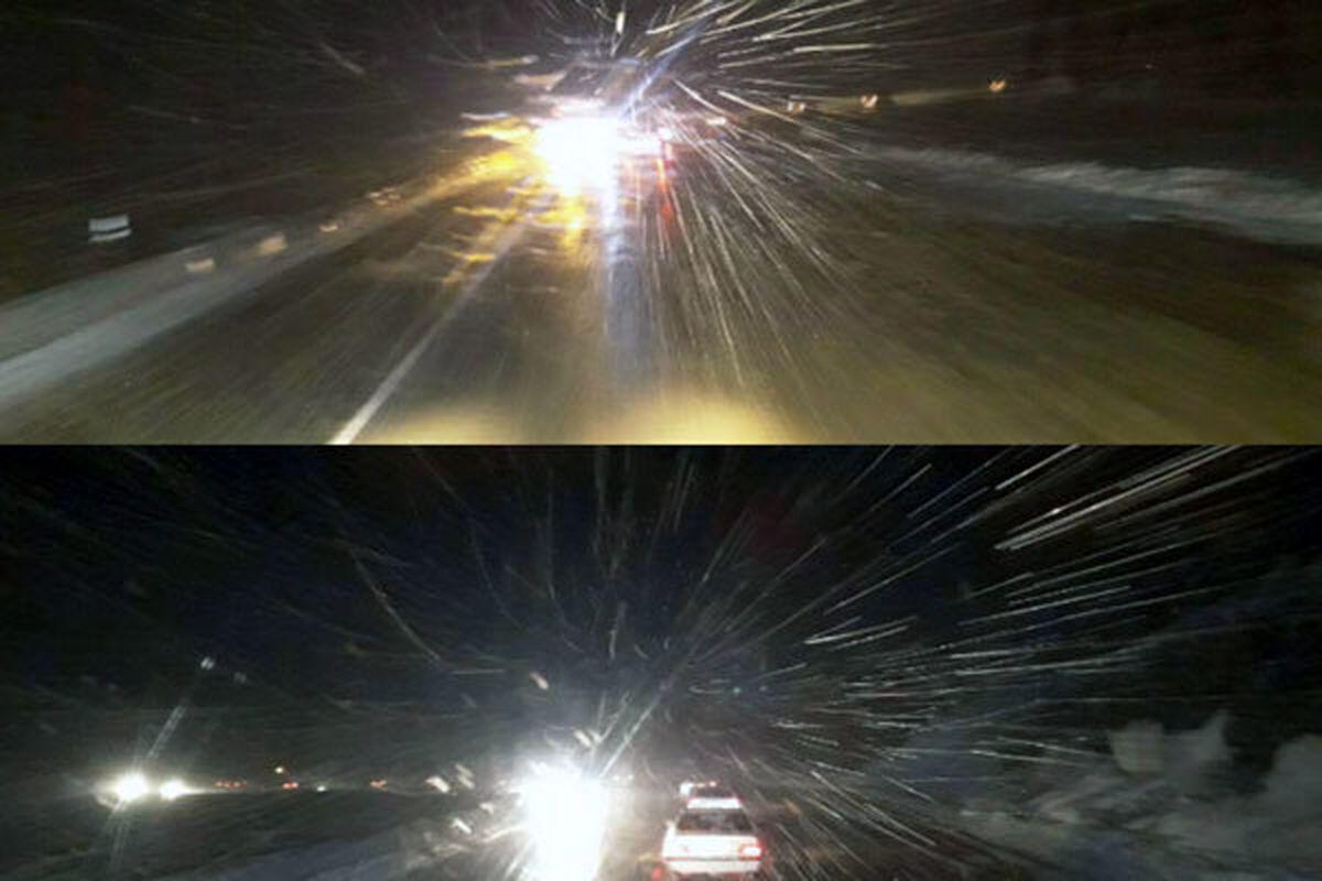 آغاز بارش برف شدید در هراز