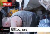 نجات زیر آوار ماندگان از انفجار سوریه توسط نیروهای امدادگر +فیلم