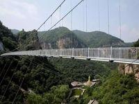 پل معلق شیشهای در ارتفاع 168 متری +تصاویر