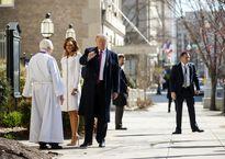 دونالد ترامپ و همسرش در مراسم روز سنت پاتریک +فیلم