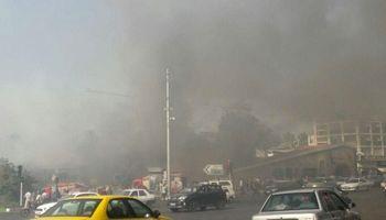 آتشسوزی در میدان میدان قدس تهران +عکس