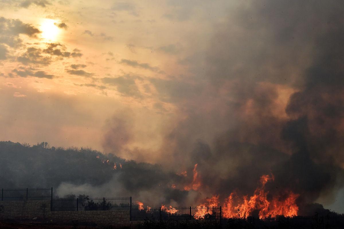 آتشسوزی در جنگلهای لبنان