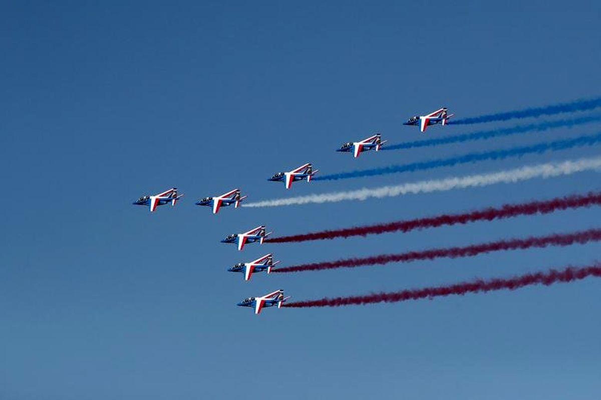 مانور هوایی جتهای فرانسوی در نمایشگاه پاریس ۲۰۱۹ +تصاویر