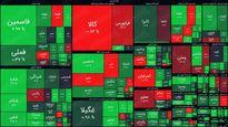 نقشه بورس امروز بر اساس ارزش معاملات / رشد پنج هزار واحدی شاخص کل بورس