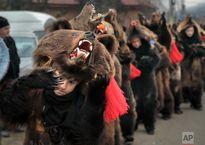 مراسم رقص خرس ها در رومانی +تصاویر