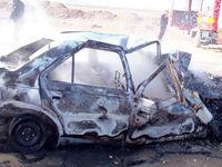 مرگ ۲نفر در آتش سوزی خودرو +عکس