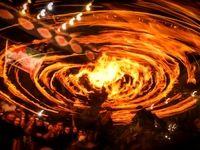 آئین مشعل گردانی در دولت آباد +عکس