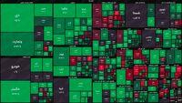 نقشه بورس امروز بر اساس ارزش معاملات/ خروج پول حقیقی در نیم ساعت ابتدایی بازار