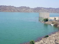 سد پیشین در جنوب سیستان و بلوچستان سرریز شد