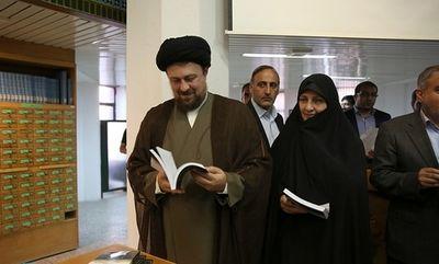 سید حسن خمینی در کنار مادرش +عکس