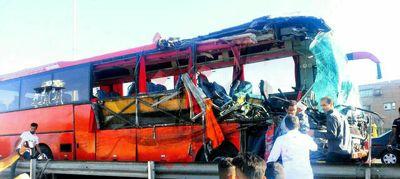 تصادف مرگبار دو اتوبوس بینشهری فاجعه آفرید
