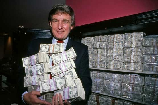 ترامپ و پولهایش