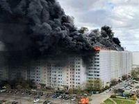 تصویری از انفجار و آتشسوزی مهیب ساختمانی در برلین آلمان
