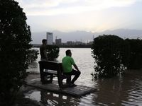 هیجان مردم از سیراب شدن کارون +تصاویر