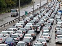 ترافیک سنگین درراههای البرز