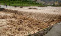 سیلاب در ساوه +فیلم