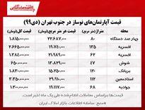 قیمت آپارتمانهای نوساز جنوب تهران/ کاهش چشمگیر معاملات