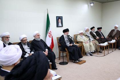 دیدار رییس و اعضای مجلس خبرگان با رهبر انقلاب +عکس