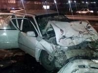 تصادف در بزرگراه یاسینی ۲کشته و ۸زخمی برجای گذاشت +عکس