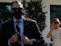 حضور بدون ماسک ملانیا ترامپ در ایستگاه رایگیری