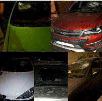 حمله اوباش ورامین به چند خودرو! +عکس