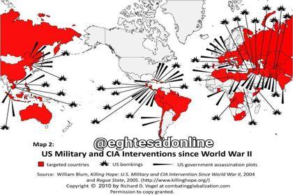 دخالت نظامی آمریکا در کشورهای مختلف +اینفوگرافیک