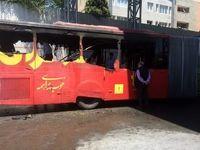 آتشگرفتن اتوبوس بیآرتی در ایستگاه پارکوی +عکس