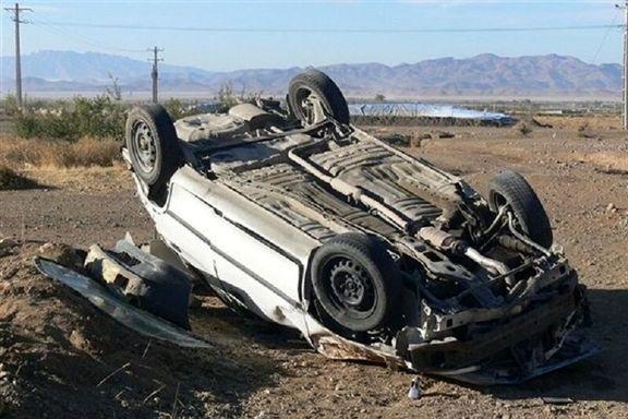 واژگونی خودروی پراید، جان یک تن را گرفت