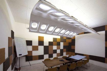 استفاده از قطعات هواپیما در دکوراسیون داخلی +عکس