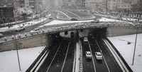 ترافیک نیمه سنگین به علت بارش برف و کولاک در محورهای شمالی