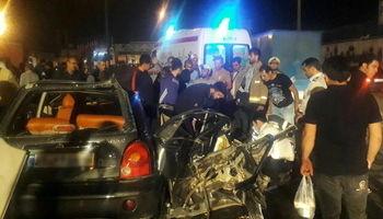 یک کشته و دو مصدوم در تصادف جاده خاوران +عکس