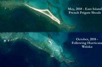 تندباد یک جزیره را پاک کرد +عکس