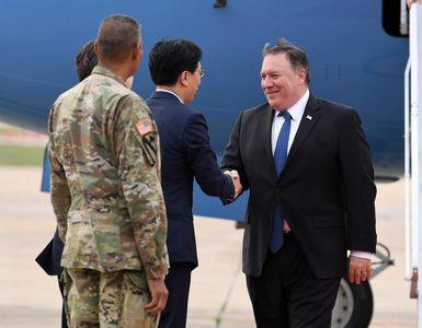 """استقبال از وزیر خارجه آمریکا در پایگاه هوایی """"اوسان"""""""