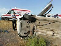 واژگونی پراید در مهریز پنج کشته و مجروح به جای گذاشت