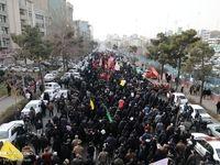 راهپیمایی مردم تهران در پی شهادت سردار  قاسم سلیمانی +عکس
