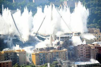 تخریب پل جنوا