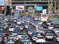 ترافیک سنگین در آزاد راه کرج - قزوین